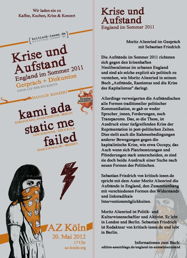 Einladungs Flyer | AZ Köln