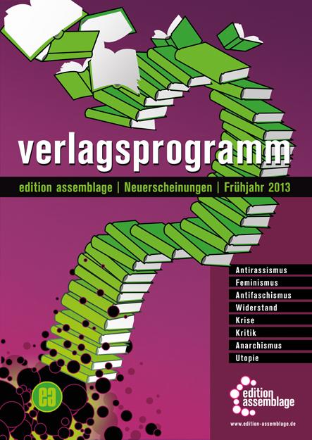Titelcover Vorschau Frühjahr 2013 edition assamblage