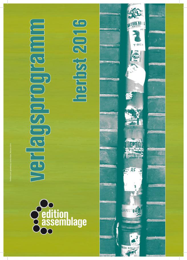 Vorschau Herbst 2016 - edition assemblage